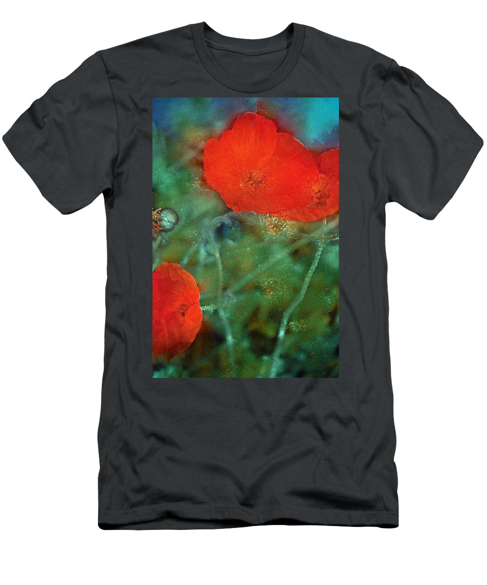 Floral Men's T-Shirt (Athletic Fit) featuring the photograph Poppy 30 by Pamela Cooper