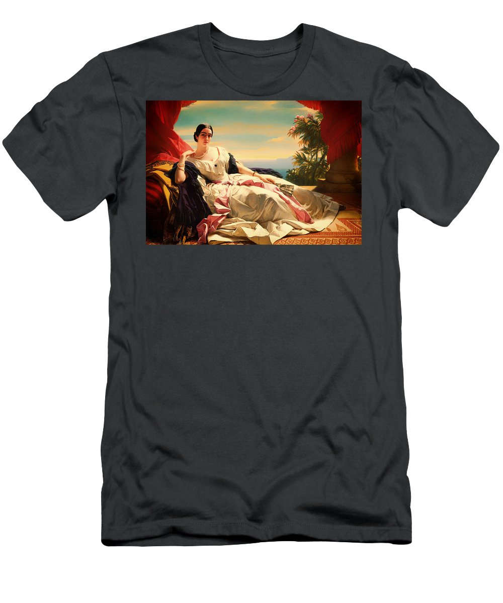 Painting Men's T-Shirt (Athletic Fit) featuring the painting Portrait Of Leonilla by Mountain Dreams