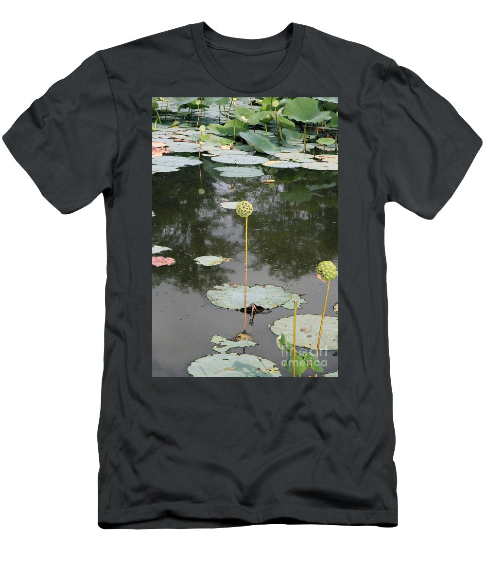 Lotus Men's T-Shirt (Athletic Fit) featuring the photograph Post Bloom by Amanda Barcon