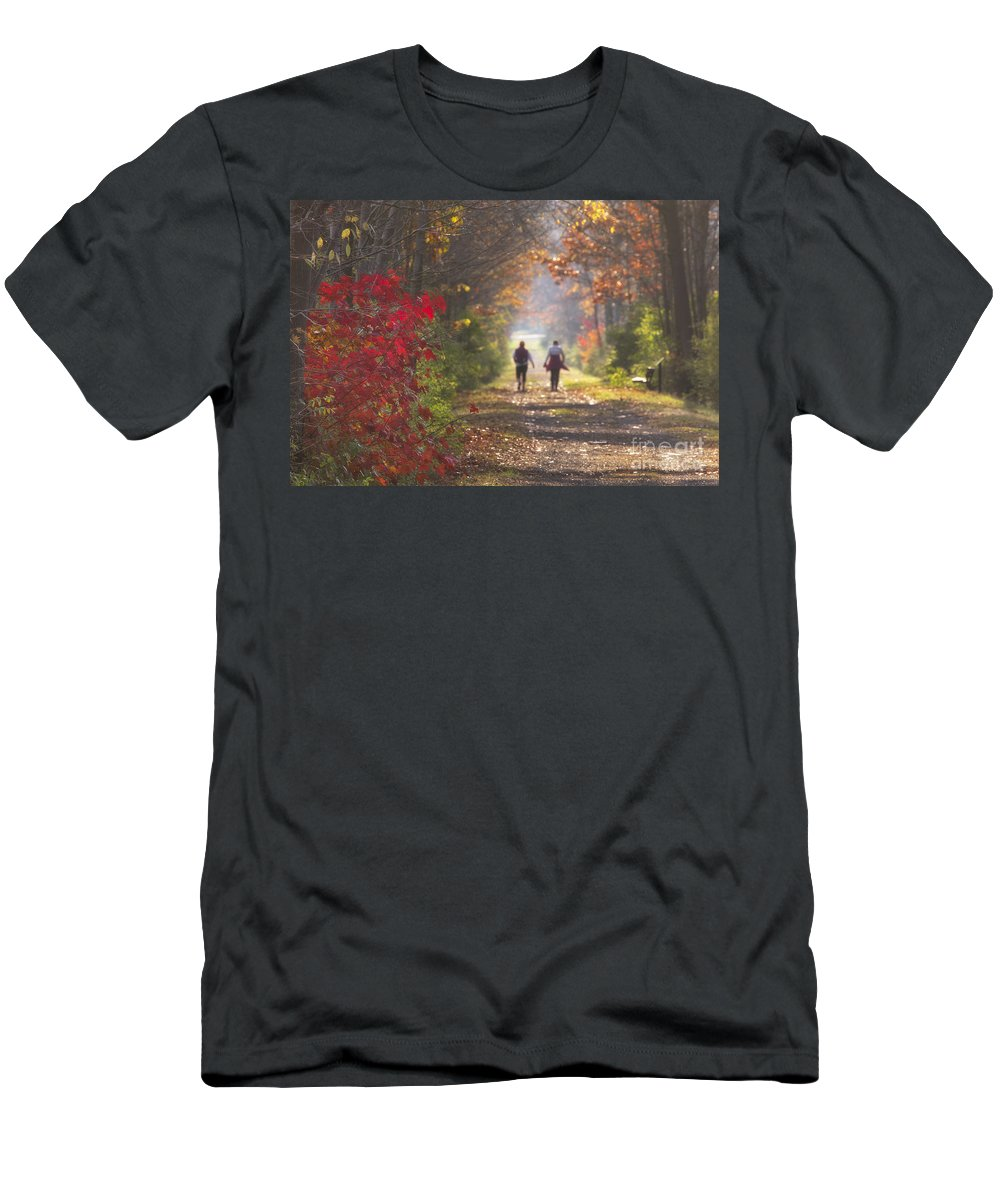 Michele Men's T-Shirt (Athletic Fit) featuring the photograph Power Walkers by Michele Steffey