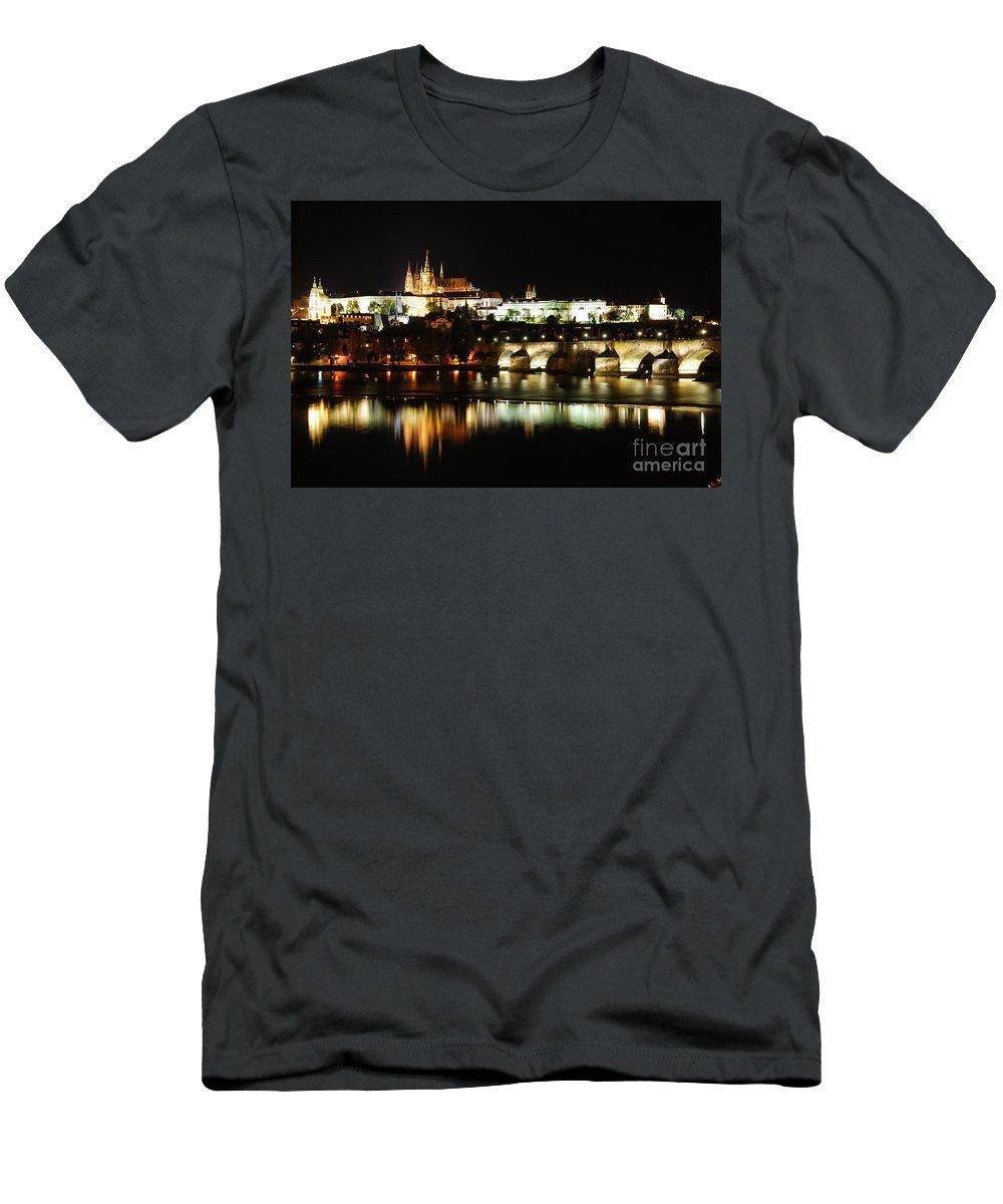Prague Men's T-Shirt (Athletic Fit) featuring the photograph Prague Castle by Syed Aqueel