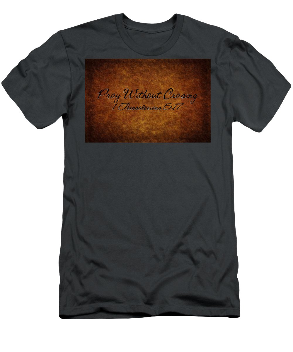 Hebrews Men's T-Shirt (Athletic Fit) featuring the photograph Pray Without Ceasing by Sennie Pierson