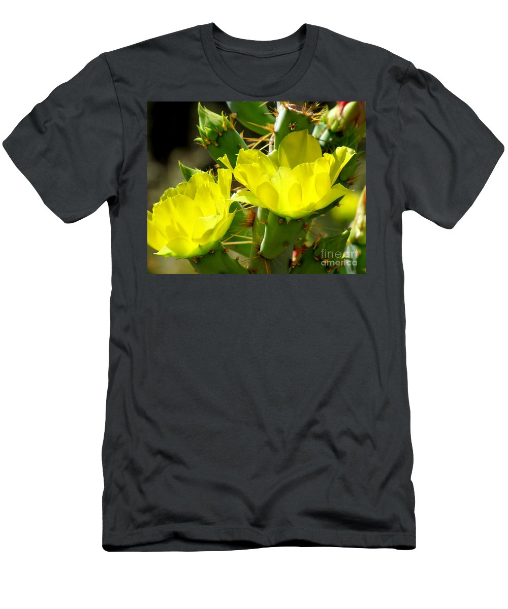 Prickly Pear Men's T-Shirt (Athletic Fit) featuring the photograph Prickly Pride by Marilyn Smith