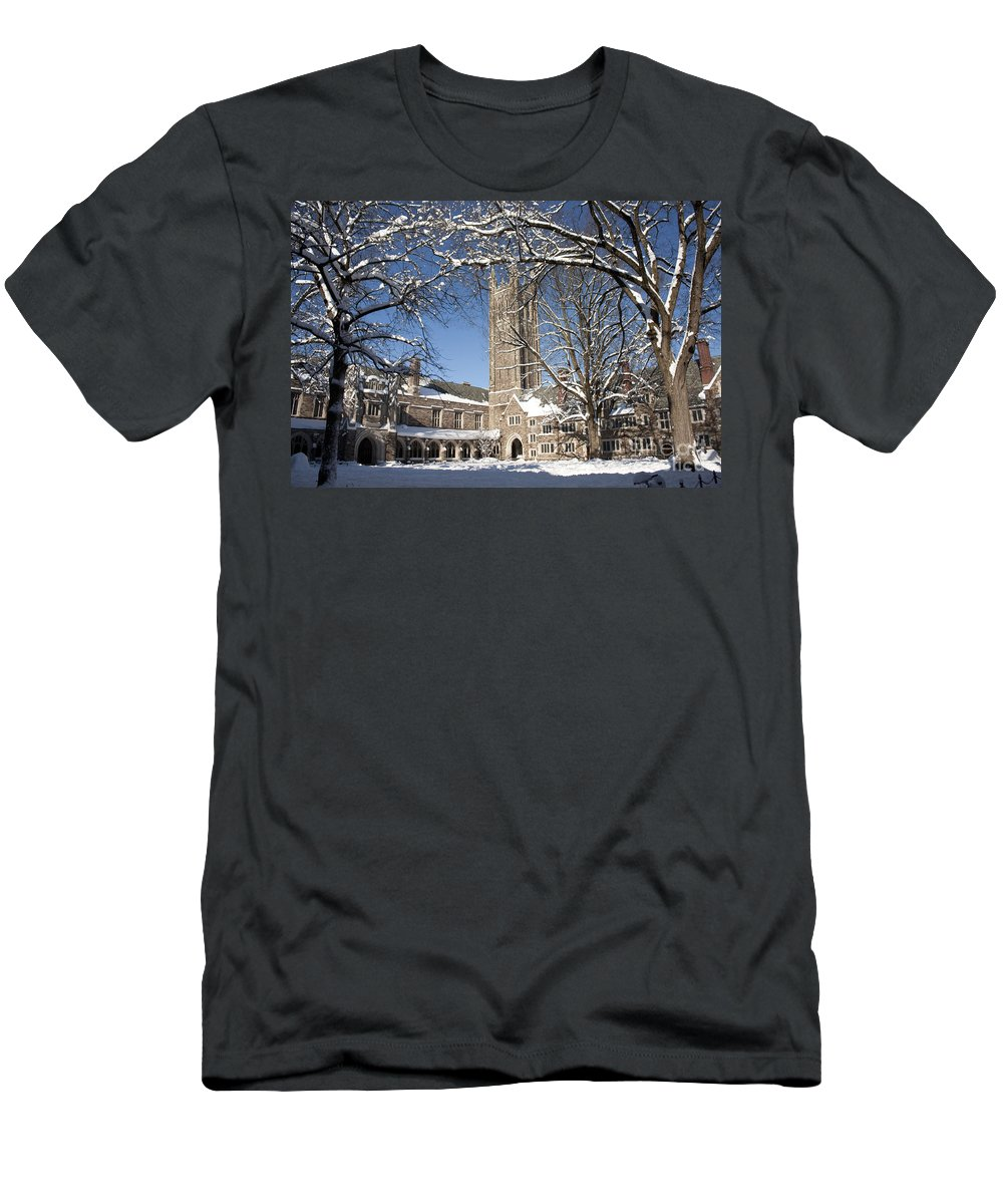 Princeton Men's T-Shirt (Athletic Fit) featuring the photograph Princeton Wonderland by Christina Gupfinger