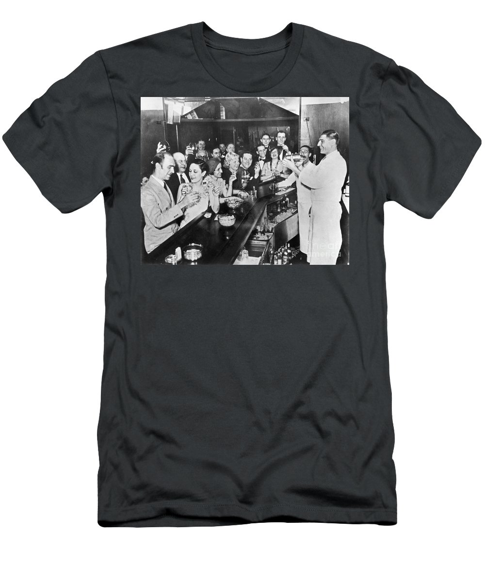 1933 Men's T-Shirt (Athletic Fit) featuring the photograph Prohibition Repeal, 1933 by Granger