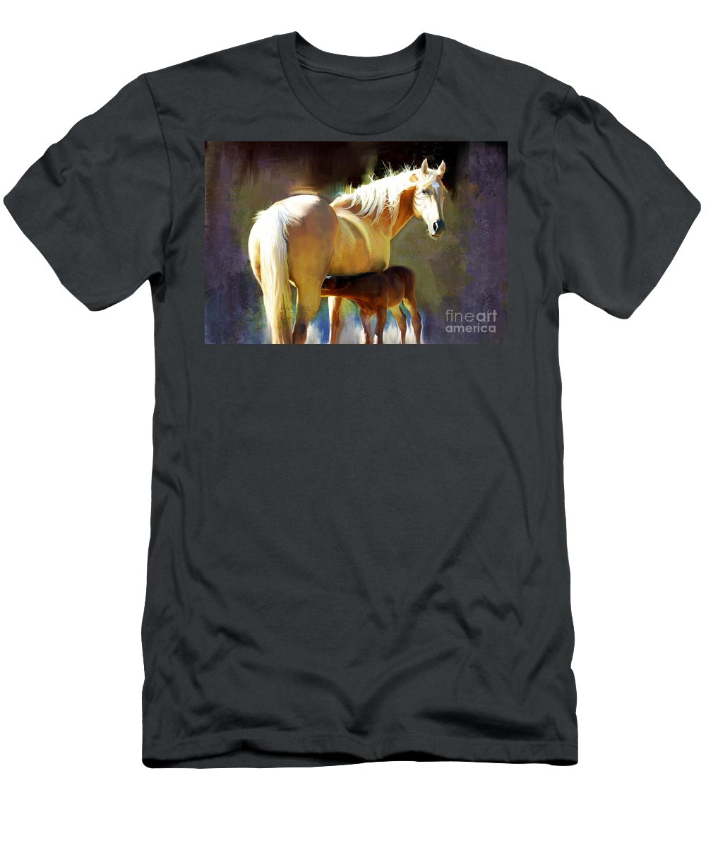 Equine Men's T-Shirt (Athletic Fit) featuring the photograph Promise by Annette Coady