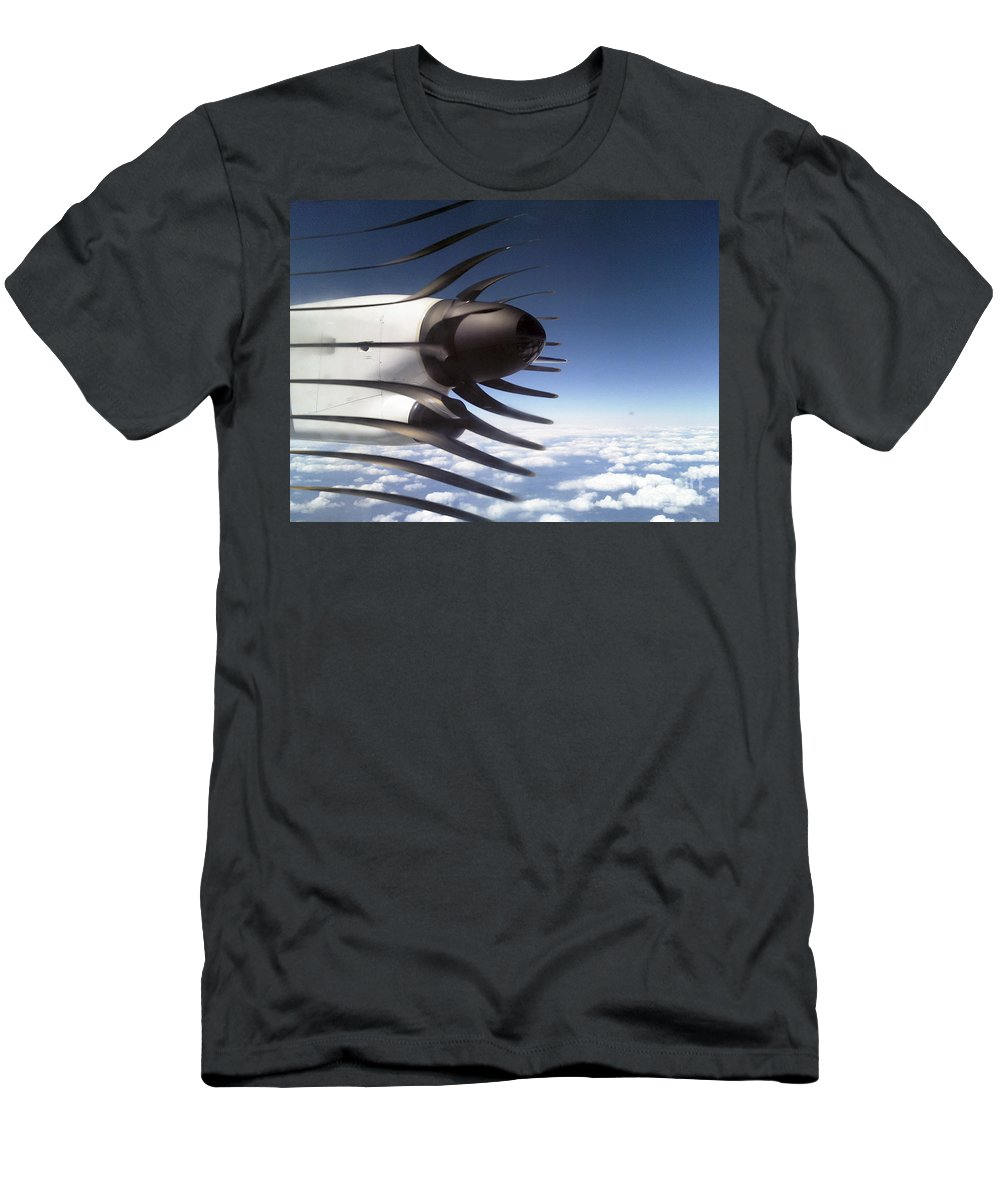Propeller Men's T-Shirt (Athletic Fit) featuring the photograph Propeller Movement by Darleen Stry