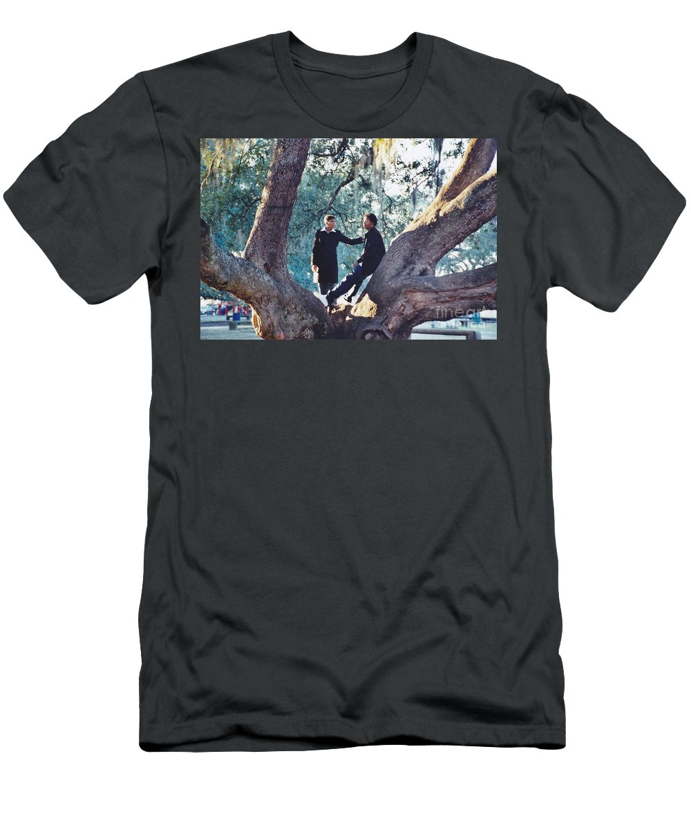 Church Men's T-Shirt (Athletic Fit) featuring the photograph Proposing In A Tree by Michelle Powell