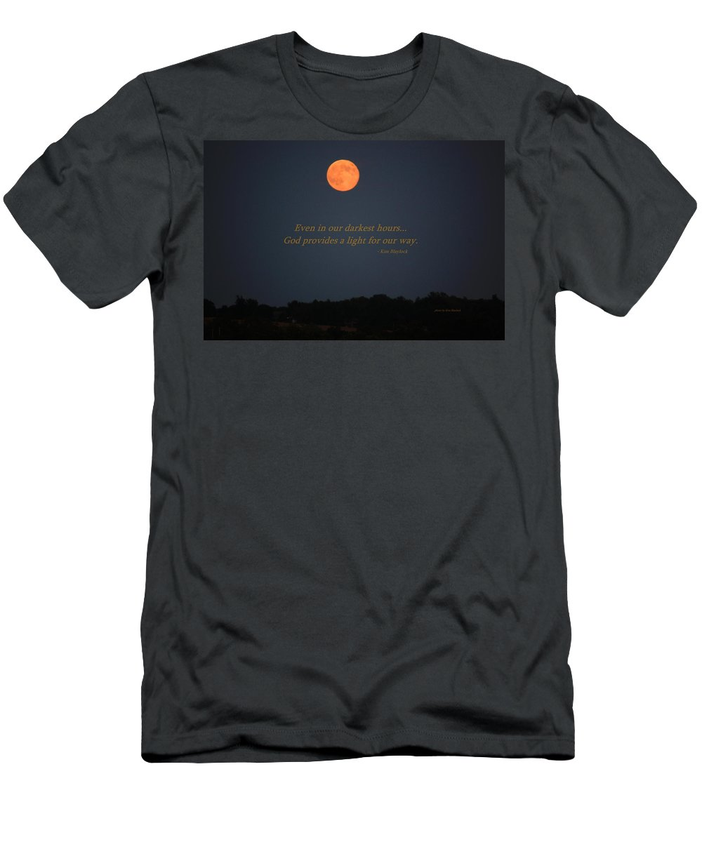 Moon Men's T-Shirt (Athletic Fit) featuring the photograph Provided Light by Kim Blaylock
