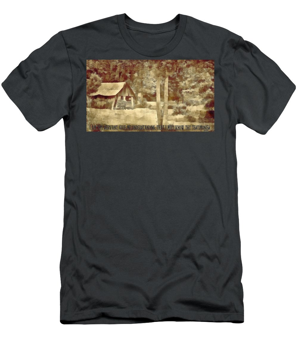 Jesus Men's T-Shirt (Athletic Fit) featuring the digital art Psalm 119 125 by Michelle Greene Wheeler