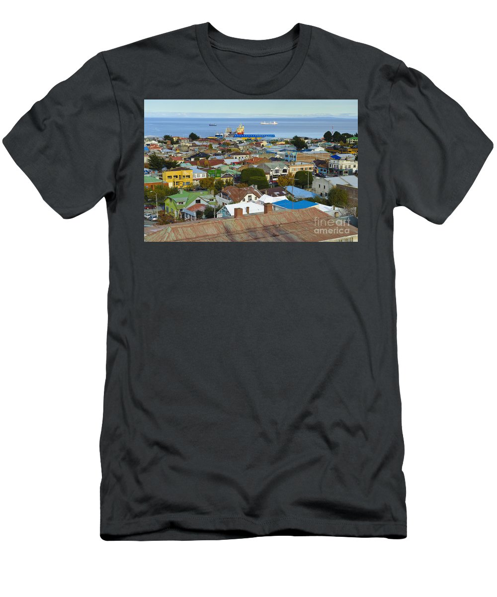 Chile Men's T-Shirt (Athletic Fit) featuring the photograph Punta Arenas by John Shaw