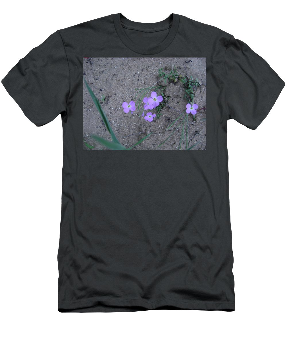 Flowers Men's T-Shirt (Athletic Fit) featuring the photograph Purple Flower by Moshe Harboun