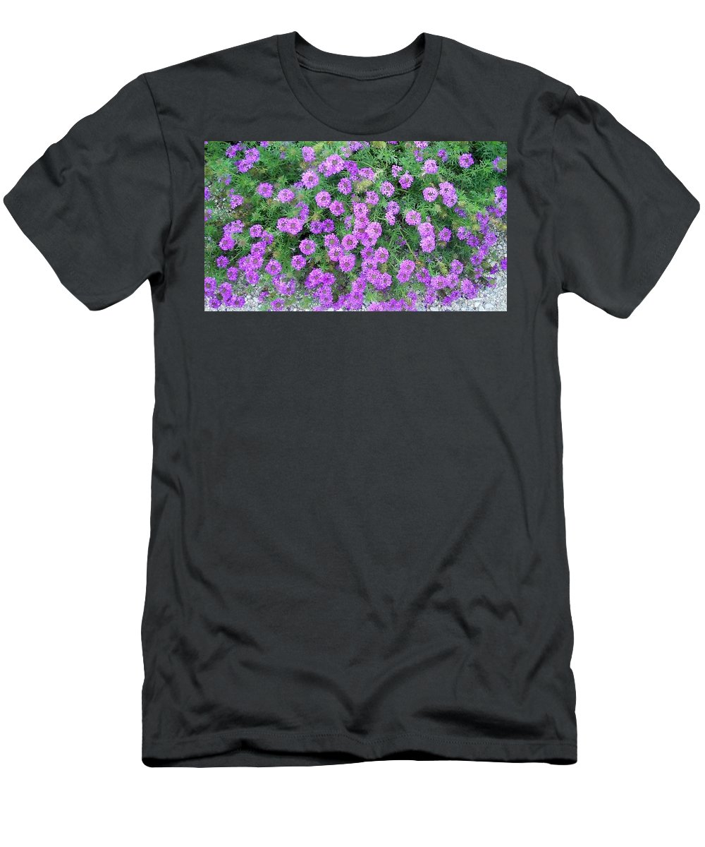 Purple Men's T-Shirt (Athletic Fit) featuring the photograph Purple Flowers by Cindy New