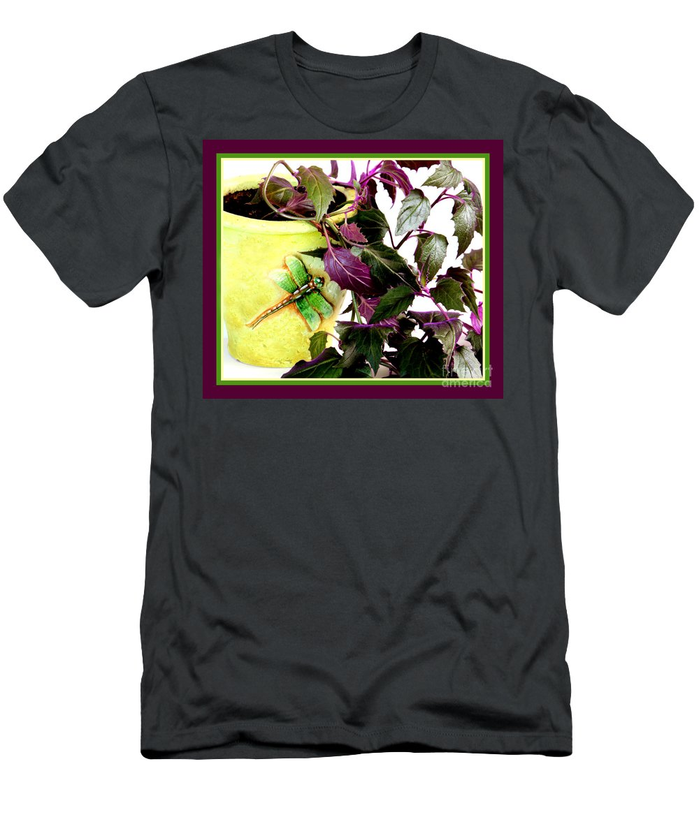 Purple Passion Men's T-Shirt (Athletic Fit) featuring the photograph Purple Passion In The Sunshine by Barbara Griffin