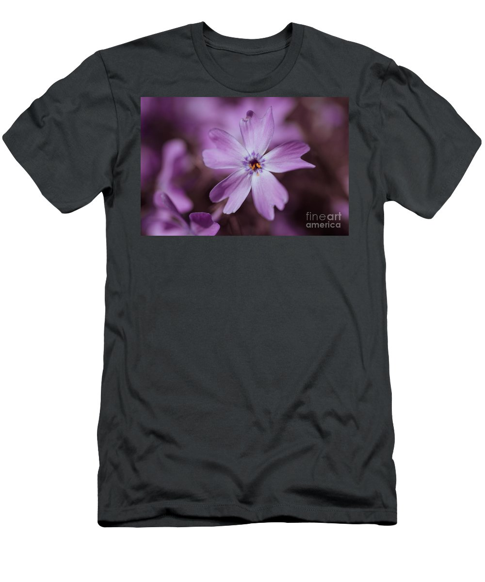 Blossom Men's T-Shirt (Athletic Fit) featuring the photograph Purple Star by Hannes Cmarits