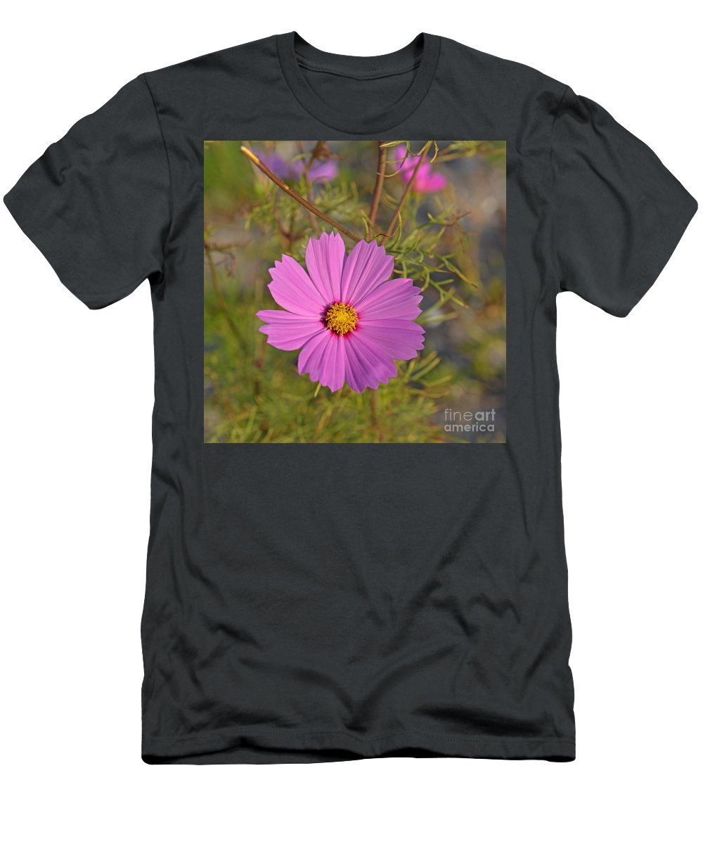 Wildflowers Men's T-Shirt (Athletic Fit) featuring the photograph Purple Wildflower by Roy Thoman