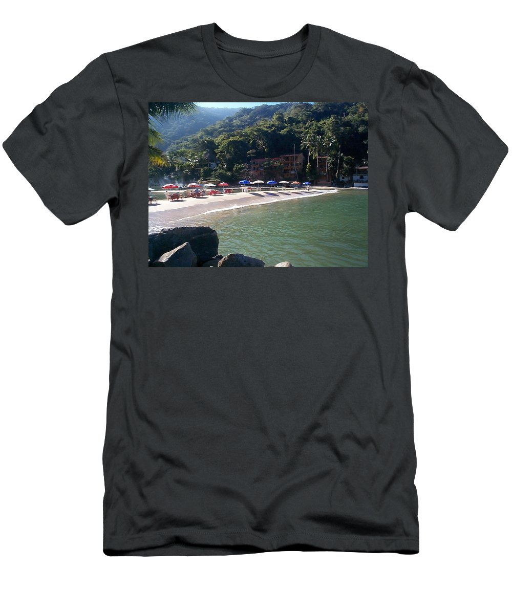 Mexico Men's T-Shirt (Athletic Fit) featuring the photograph Pv 2 by Kimberly Maxwell Grantier
