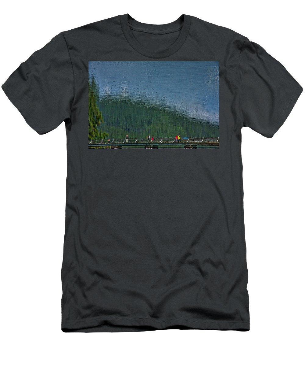 Pyramid Lake Men's T-Shirt (Athletic Fit) featuring the photograph Pyramid Island Bridge by Stuart Litoff