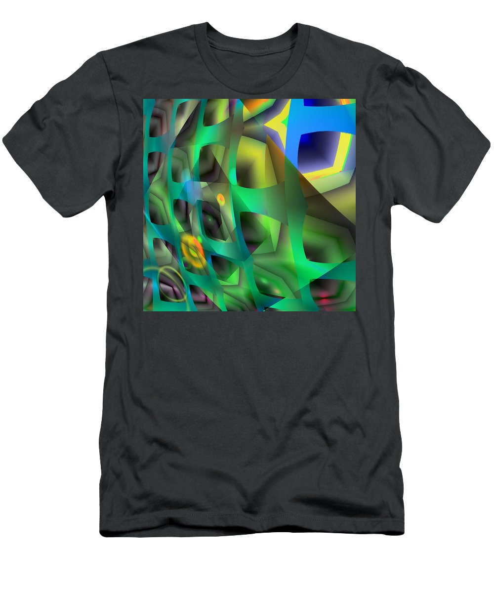 Abstract Men's T-Shirt (Athletic Fit) featuring the digital art Quanfot by John Holfinger