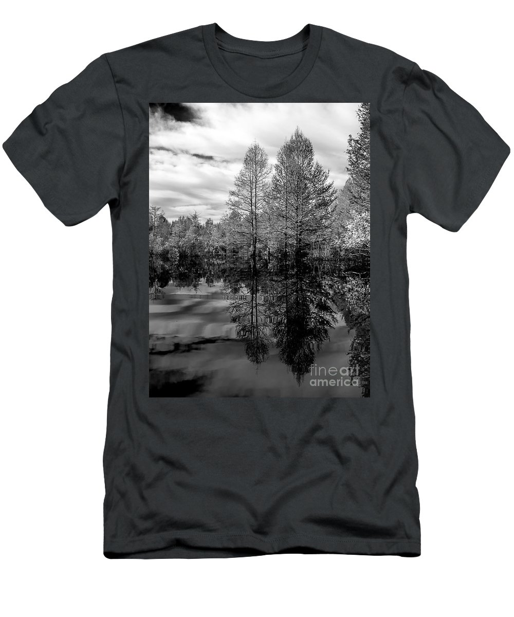 Vernon Lake Men's T-Shirt (Athletic Fit) featuring the photograph Quiet Side by Ken Frischkorn