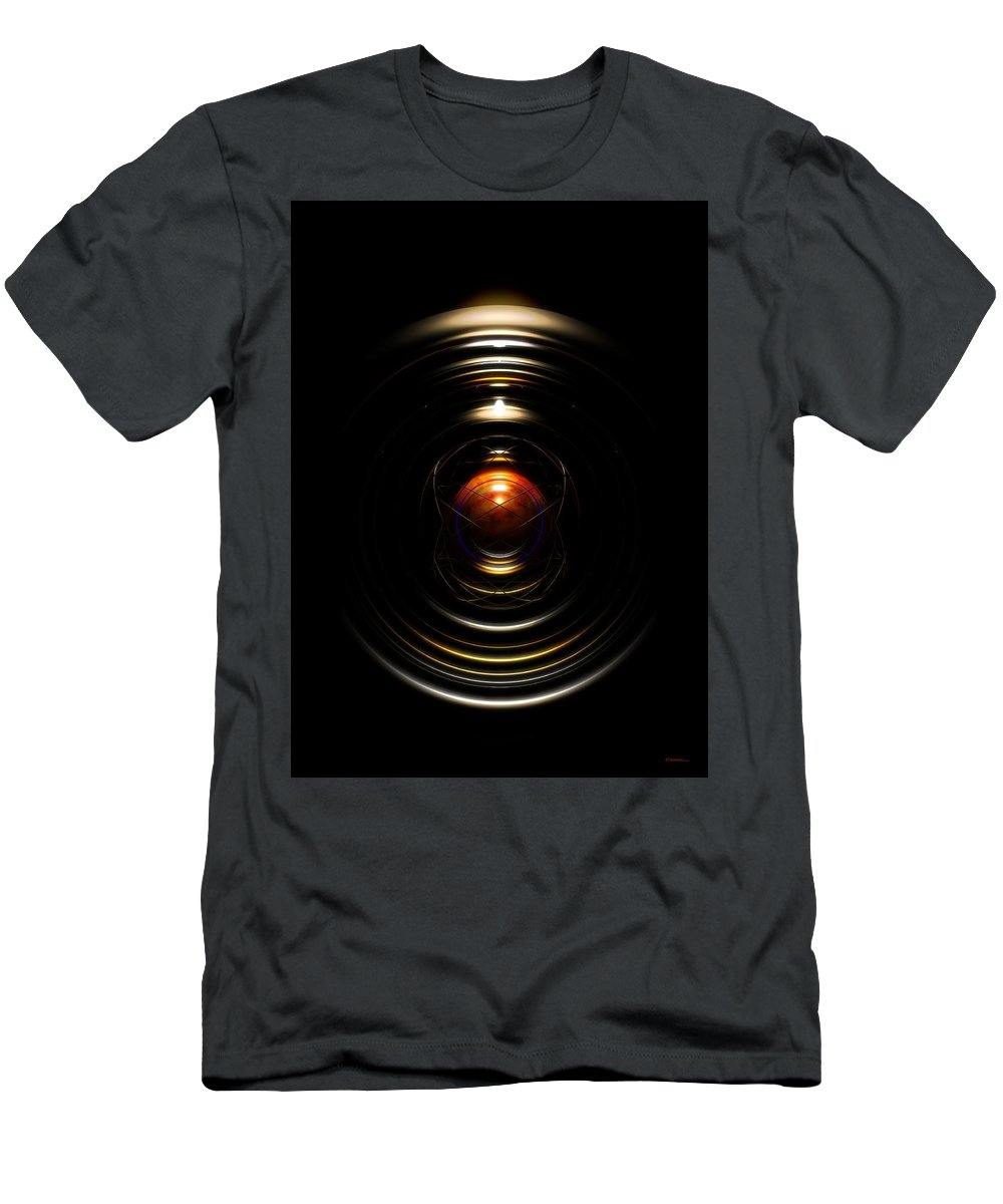 Abstract Men's T-Shirt (Athletic Fit) featuring the digital art Radial Cage by James Kramer