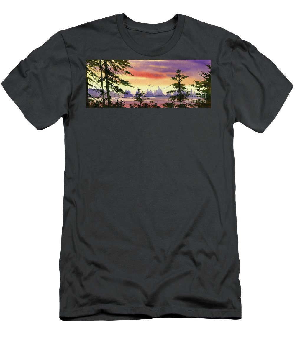 Radiant Men's T-Shirt (Athletic Fit) featuring the painting Radiant Coast by James Williamson