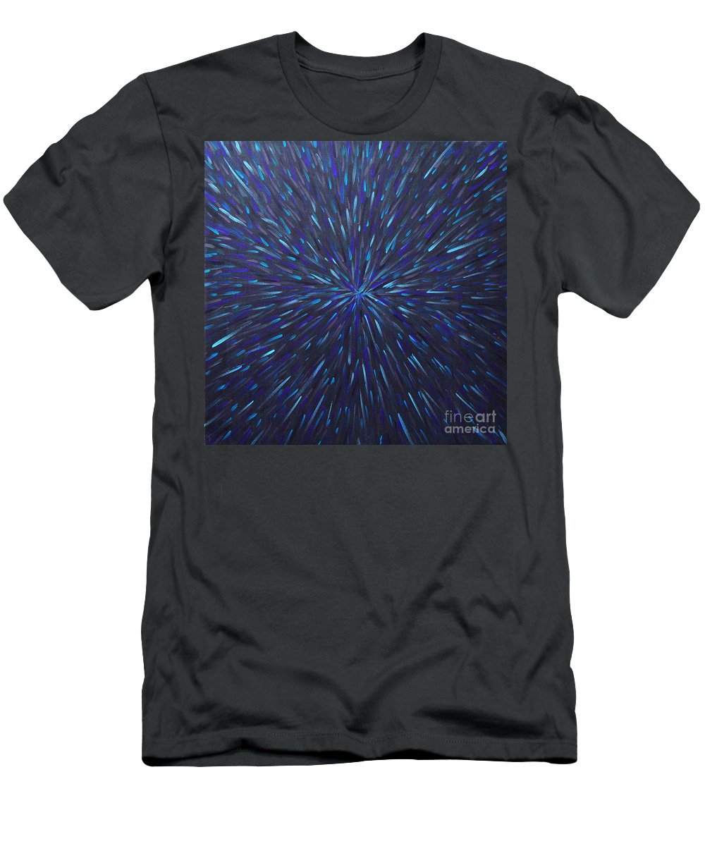 Abstract Men's T-Shirt (Athletic Fit) featuring the painting Radiation Grey by Dean Triolo