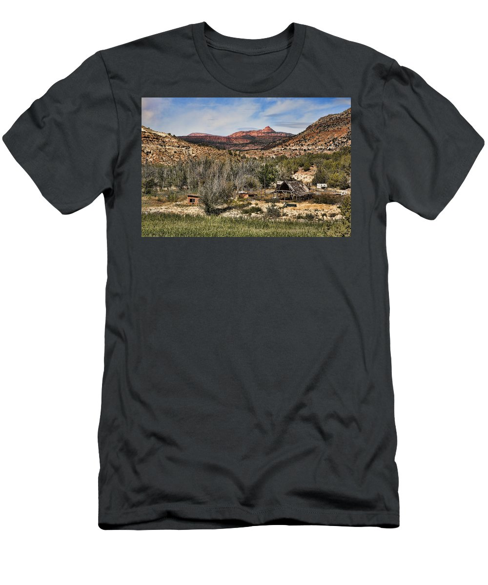 Ranch Men's T-Shirt (Athletic Fit) featuring the photograph Ranch by Hugh Smith