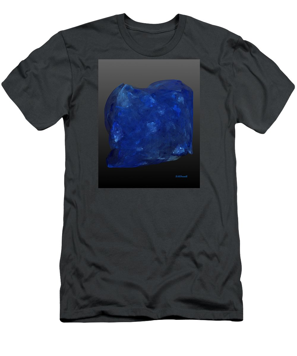 Tanzanite Men's T-Shirt (Athletic Fit) featuring the digital art Raw Tanzanite by Diane Parnell