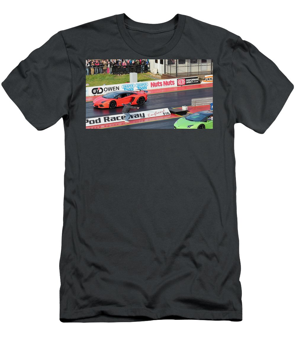 Car Men's T-Shirt (Athletic Fit) featuring the photograph Ready Set by Perggals - Stacey Turner