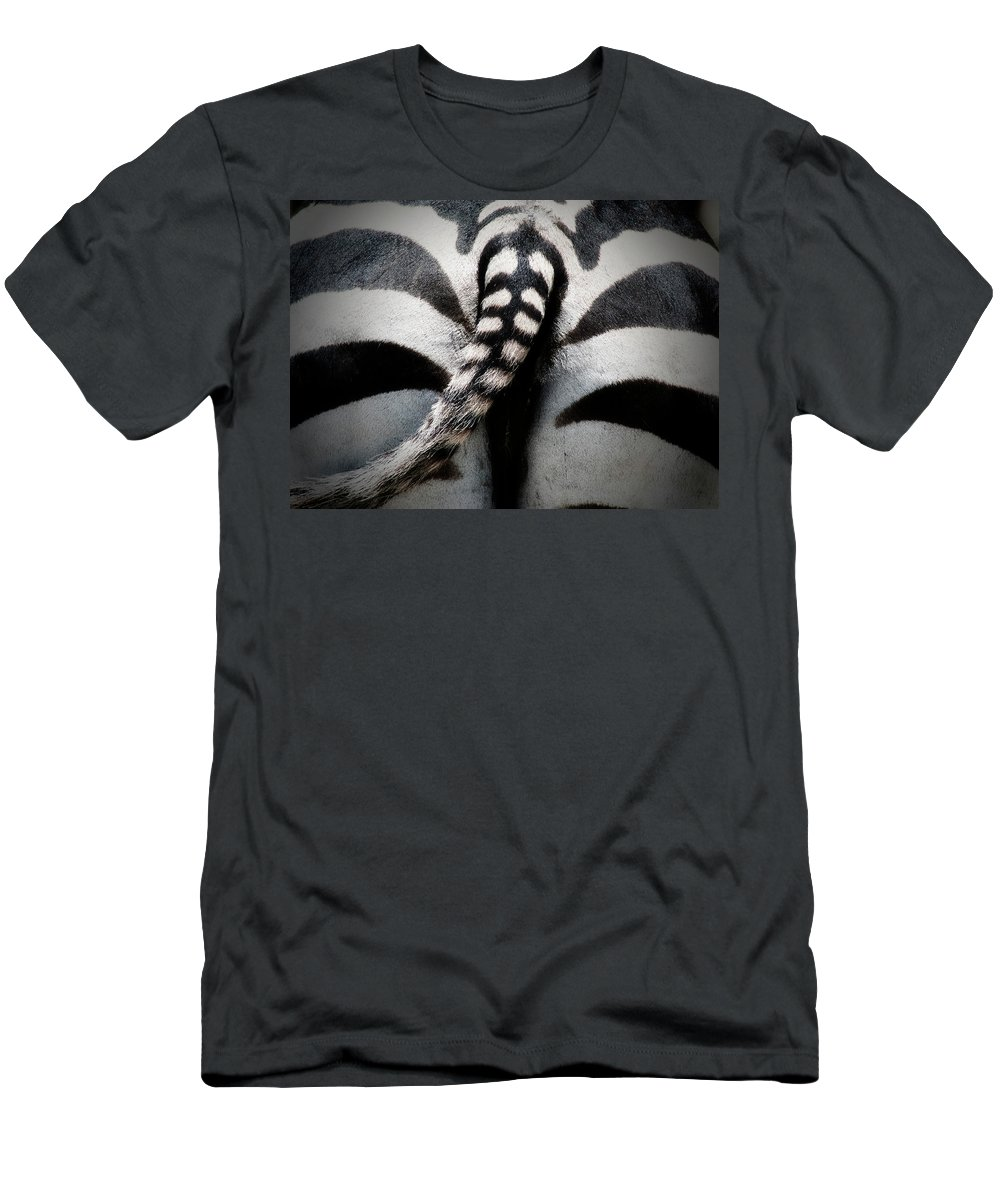 Zebra Men's T-Shirt (Athletic Fit) featuring the photograph Rear-end by Douglas Barnard