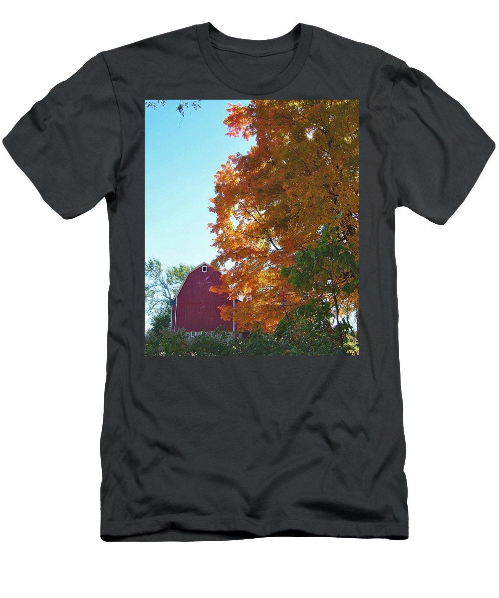 Classic Men's T-Shirt (Athletic Fit) featuring the photograph Red And Gold And Blue by Susan Wyman