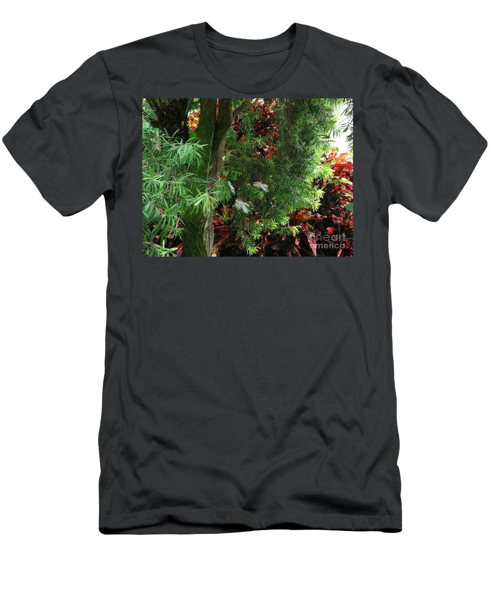 Red And Green Foliage Men's T-Shirt (Athletic Fit) featuring the photograph Red And Green Foliage by Luther Fine Art
