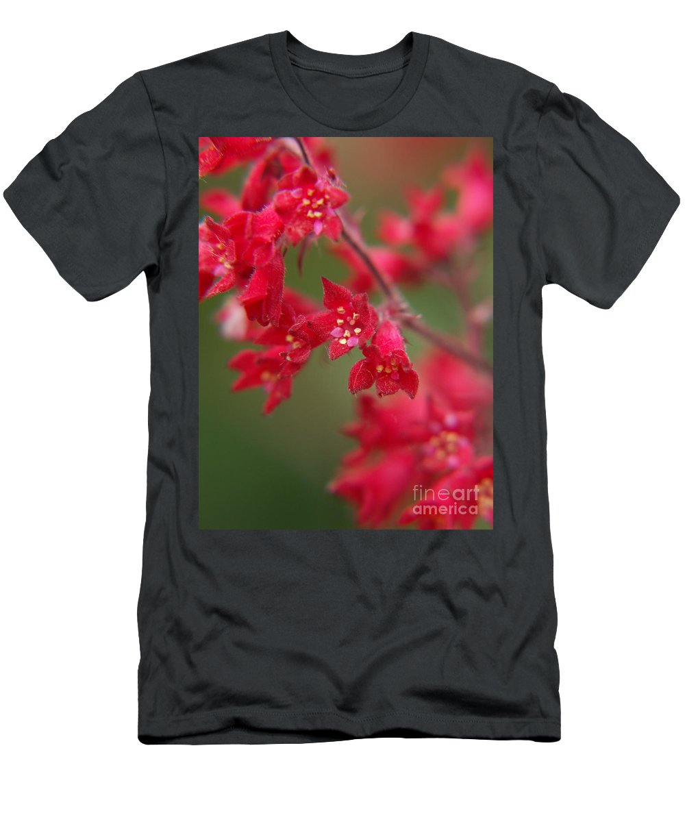 Wildflowers Men's T-Shirt (Athletic Fit) featuring the photograph Red Fairy Trumpets by Jackie Farnsworth
