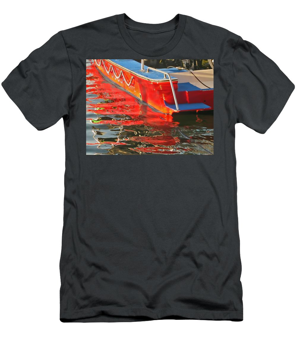 Red Men's T-Shirt (Athletic Fit) featuring the photograph Red Rippling by Pete Marchetto