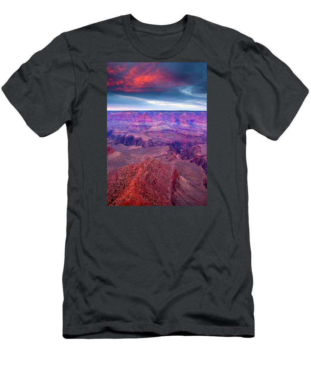 Grand Canyon T-Shirt featuring the photograph Red Rock Dusk by Mike Dawson