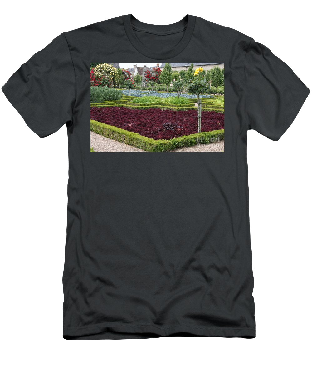 Salad T-Shirt featuring the photograph Red Salad And Roses - Chateau Villandry Garden by Christiane Schulze Art And Photography