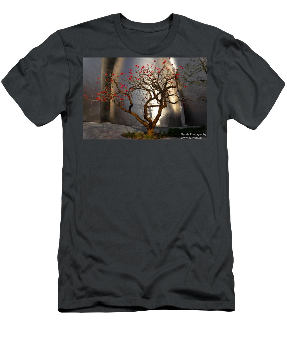 Red Tree Men's T-Shirt (Athletic Fit) featuring the photograph Red Tree by Gandz Photography