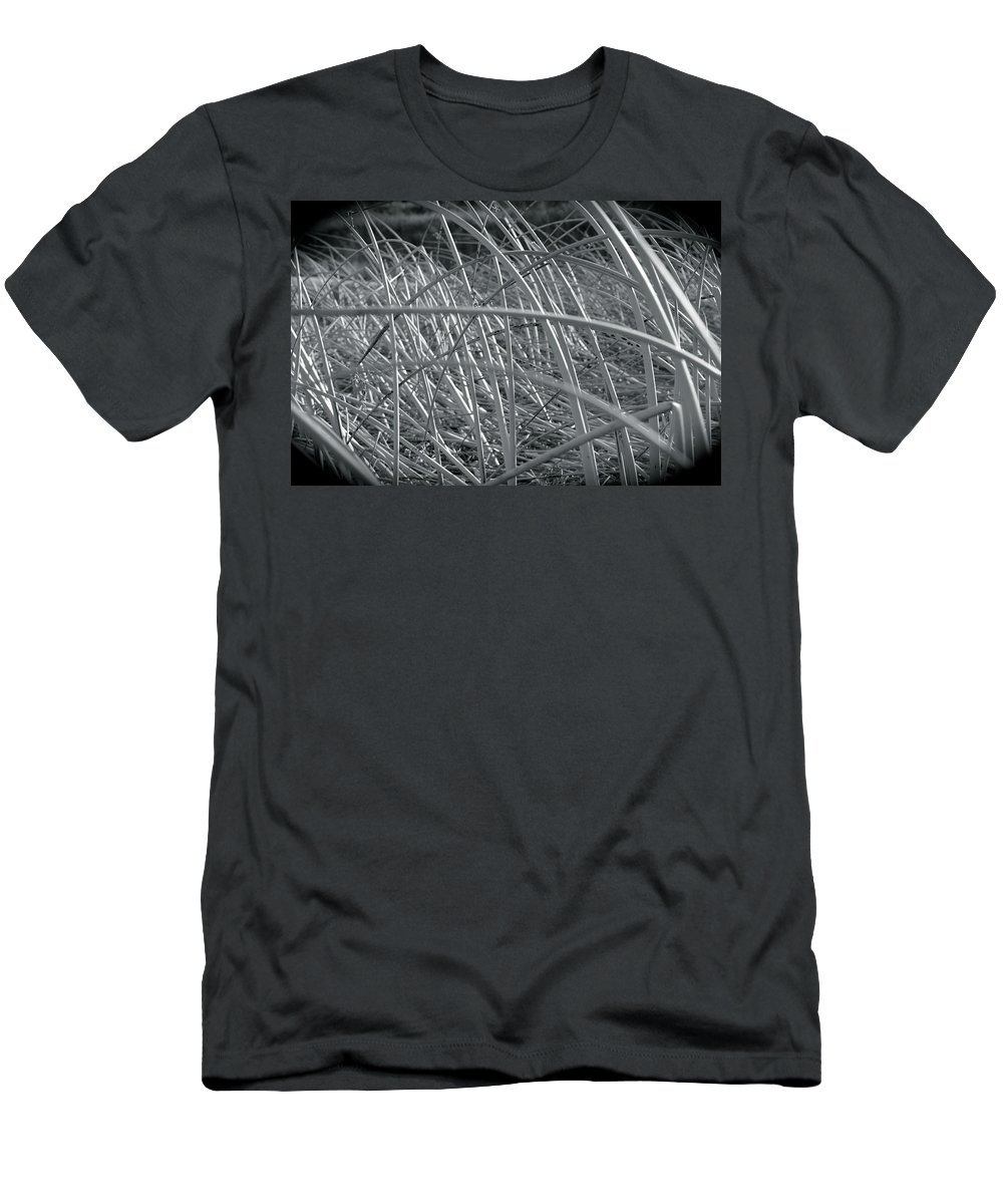 Nature Men's T-Shirt (Athletic Fit) featuring the photograph Reeds by Stephanie Bland