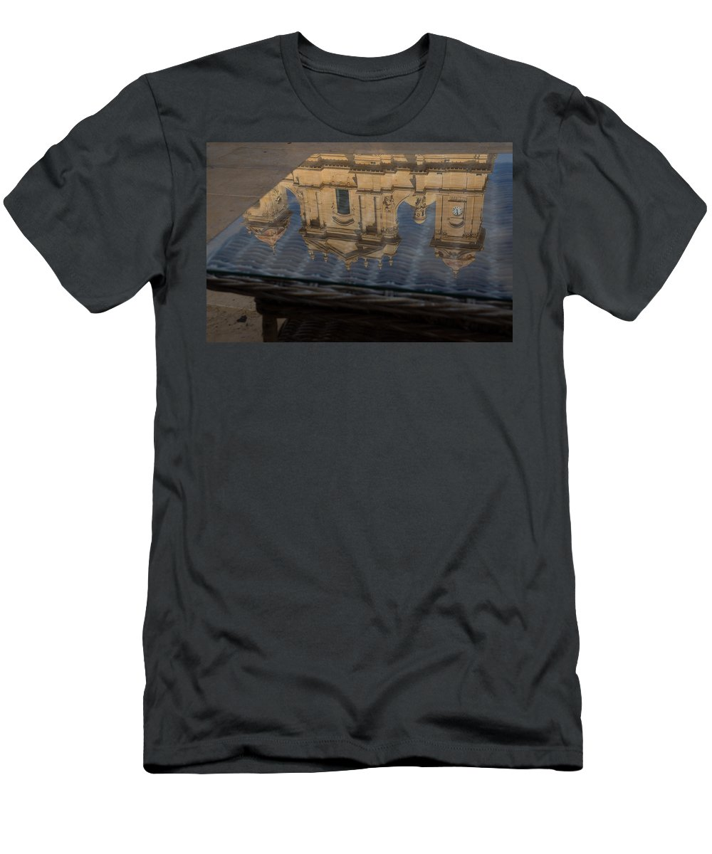 Noto Men's T-Shirt (Athletic Fit) featuring the photograph Reflecting On Noto And The Beautiful Sicilian Baroque Style by Georgia Mizuleva