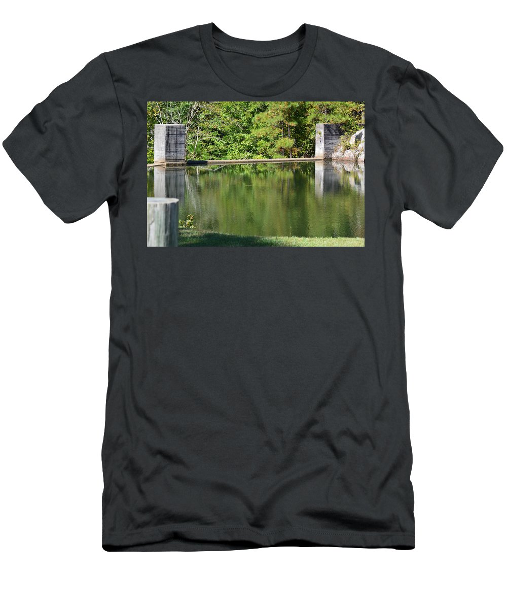 Landscapes Men's T-Shirt (Athletic Fit) featuring the photograph Reflections by Barb Dalton