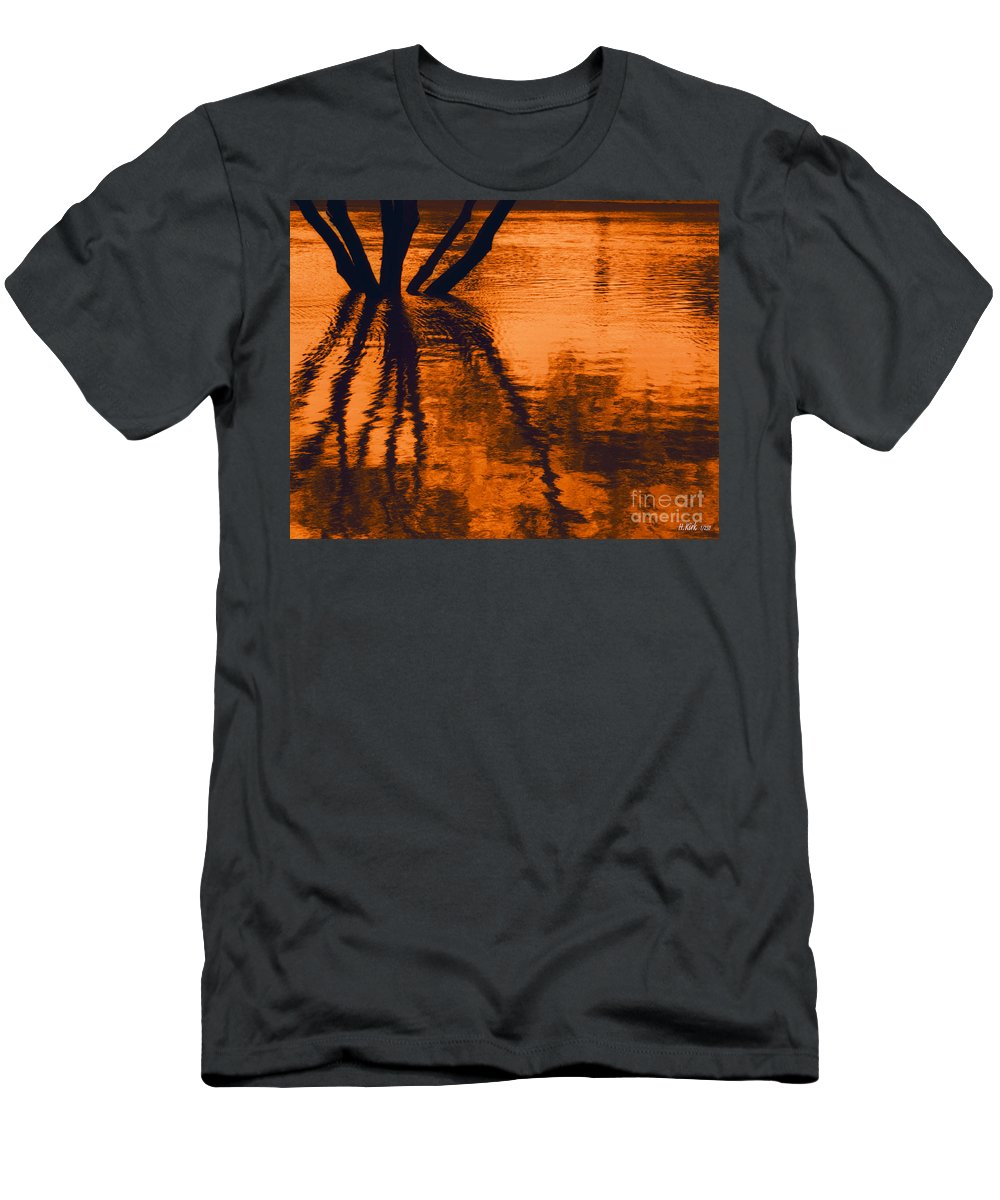 Water Men's T-Shirt (Athletic Fit) featuring the photograph Reflectivity by Heather Kirk