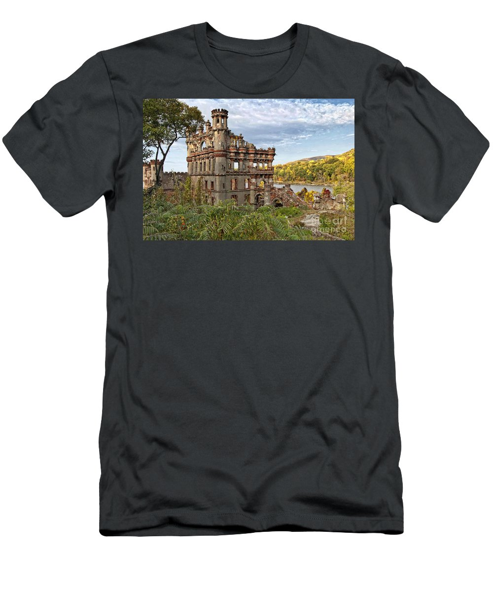 Pollepel Island Men's T-Shirt (Athletic Fit) featuring the photograph Remains by Claudia Kuhn
