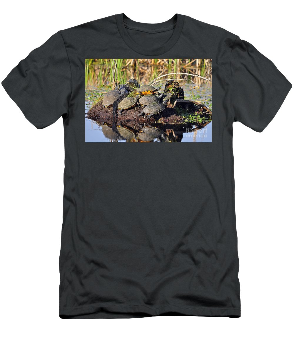 Turtle Men's T-Shirt (Athletic Fit) featuring the photograph Reptile Refuge by Al Powell Photography USA