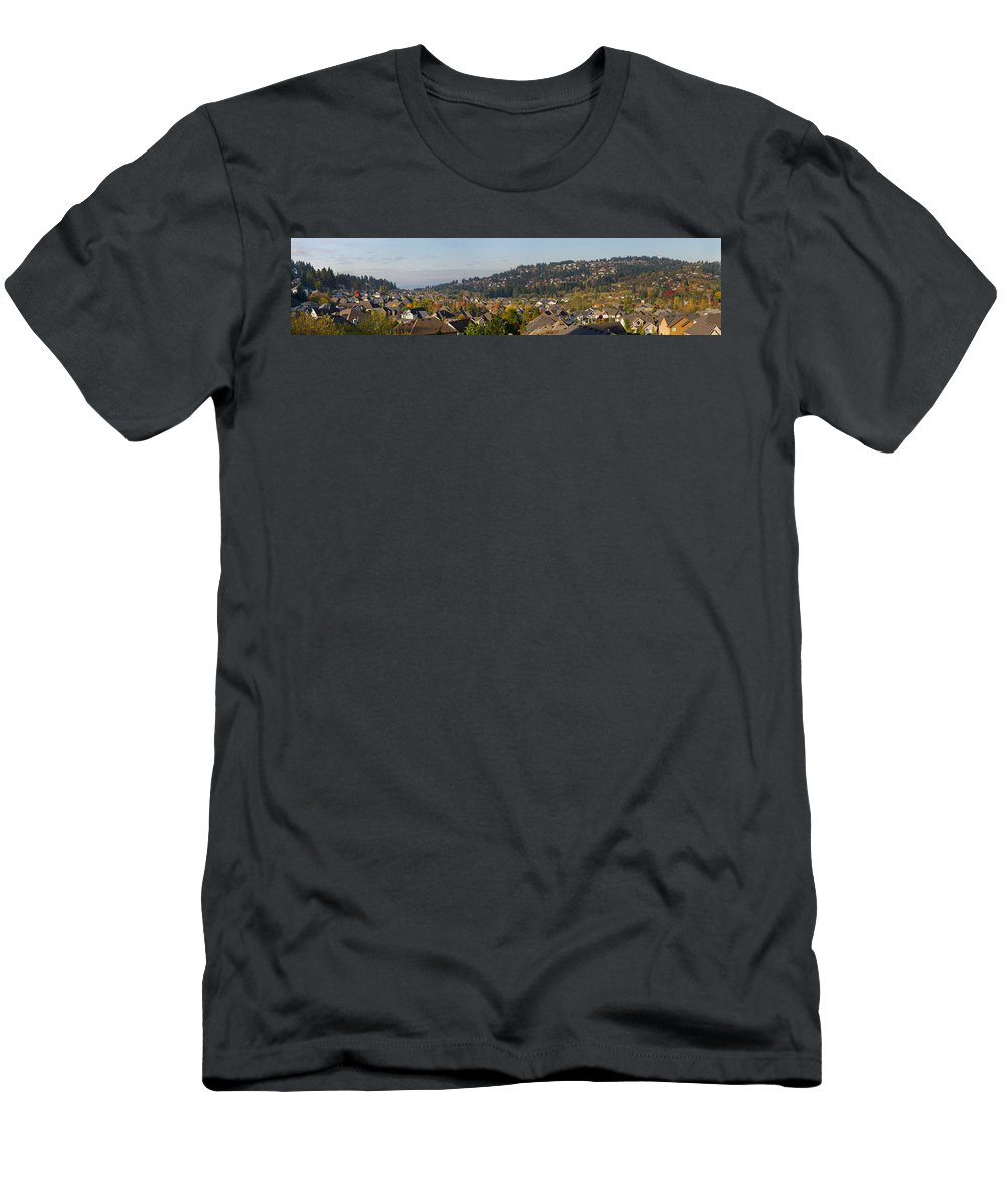 Typical Men's T-Shirt (Athletic Fit) featuring the photograph Residential Homes In Suburban North America by Jit Lim