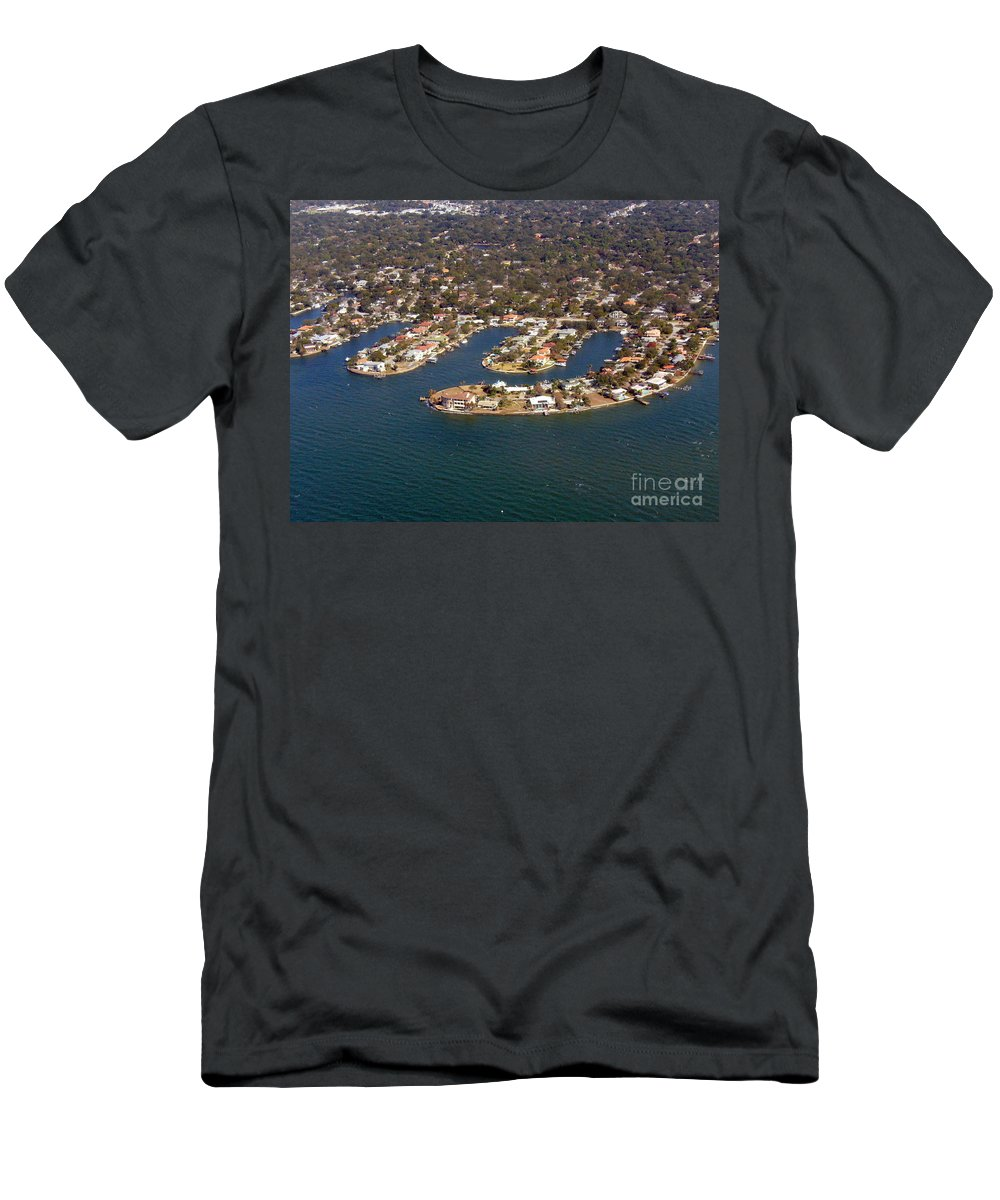 Aerial View Photograph Men's T-Shirt (Athletic Fit) featuring the photograph Resort City by Lingfai Leung