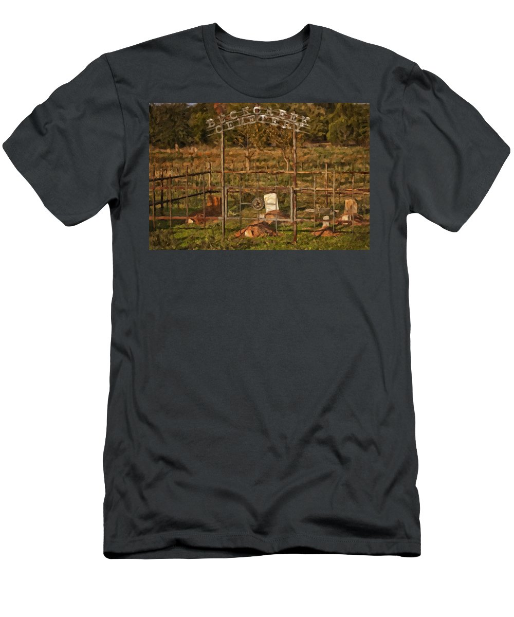 Death Men's T-Shirt (Athletic Fit) featuring the digital art Resting Place by Jack Milchanowski