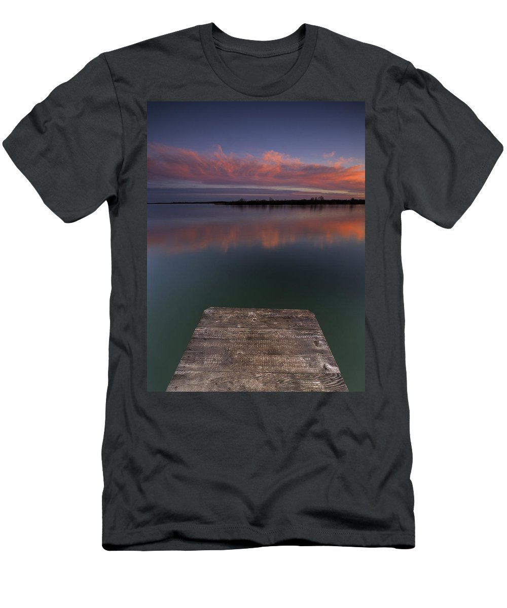 Landscapes Men's T-Shirt (Athletic Fit) featuring the photograph Rgb Sunset II by Davorin Mance