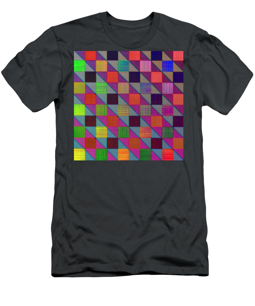 Digital Art Men's T-Shirt (Athletic Fit) featuring the photograph Rgby Squares II by David Pantuso