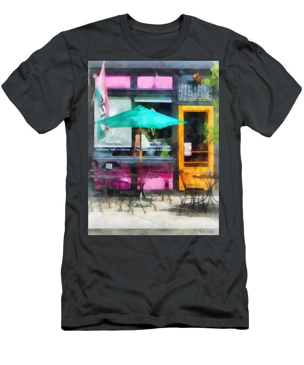 Ice Cream Men's T-Shirt (Athletic Fit) featuring the photograph Rhode Island - Homemade Ice Cream Bristol Ri by Susan Savad